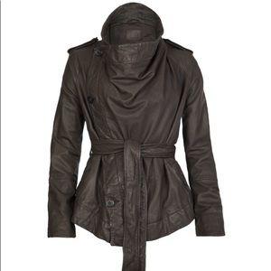 All Saints Whitton Leather Jacket EUC